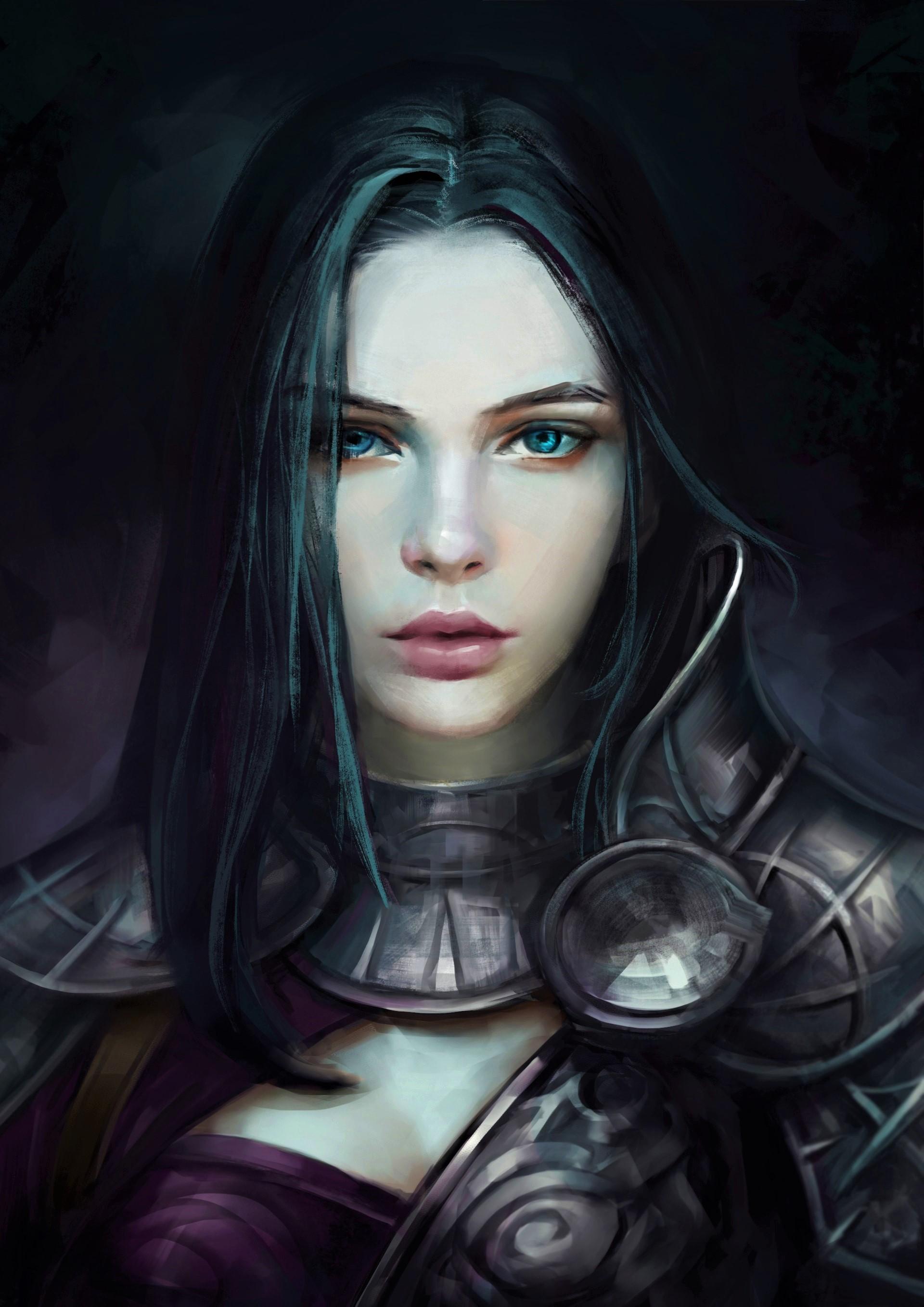 Warrior girl art id 110295 art abyss - Fantasy female warrior artwork ...