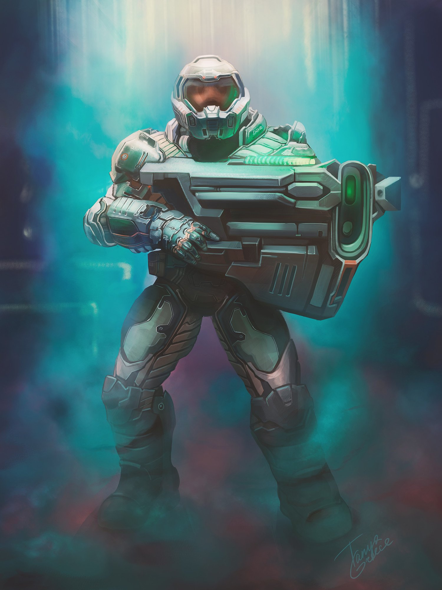 Doom Slayer Art Id 125171 Art Abyss