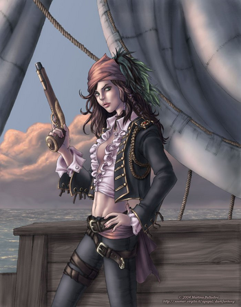 Fantasy pirate woman agree