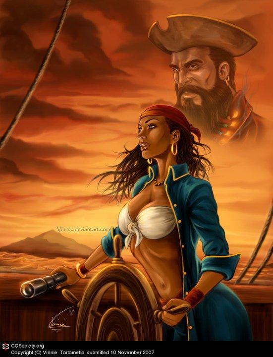 Senseless. Fantasy pirate women