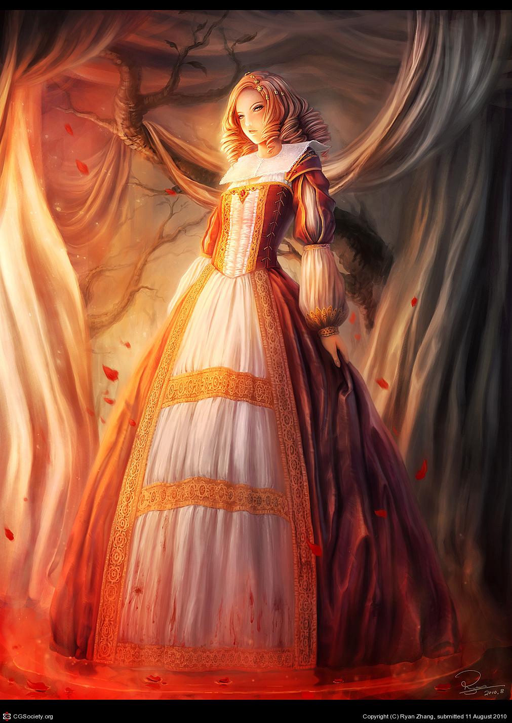 Девушка в платье фэнтези картинки