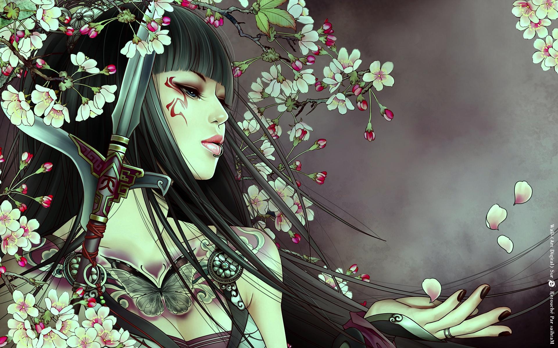 Asian beauty art id 43166 art abyss - Beautiful anime wallpaper hd ...