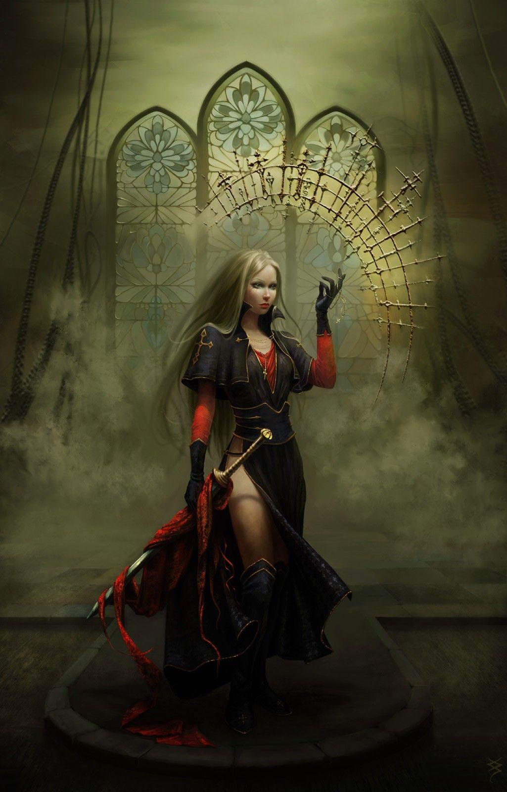 Dark Fantasy Warrior Art