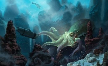 Preview Cartoon - 20000 Leagues Under The Sea Art