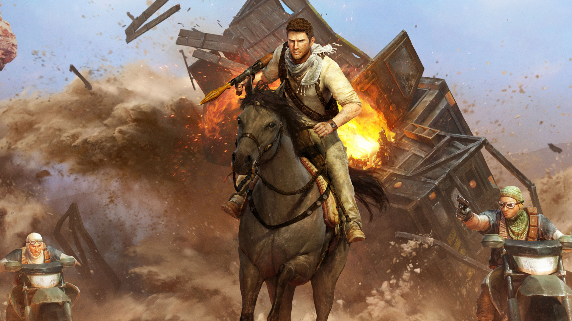 Uncharted 3 Drakes Deception Art