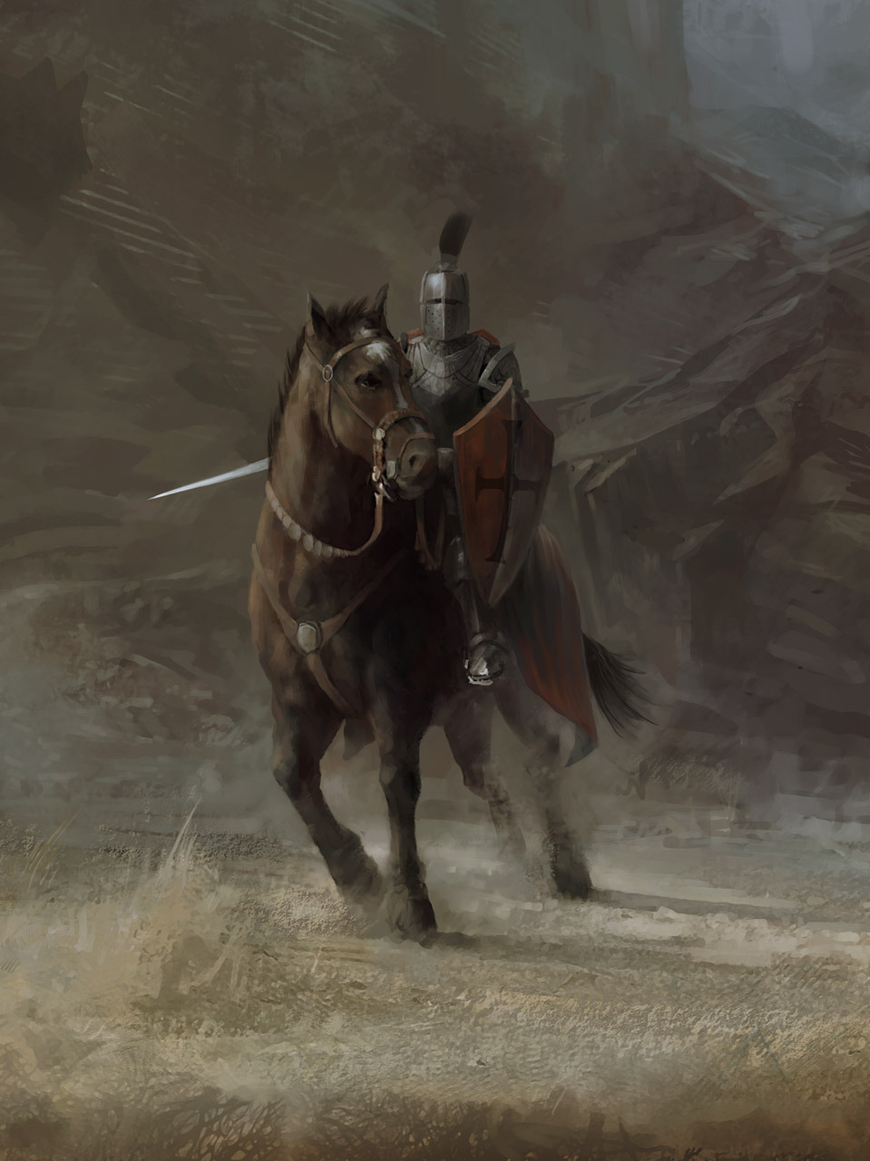 Medieval Knight On Horse Medieval knigh