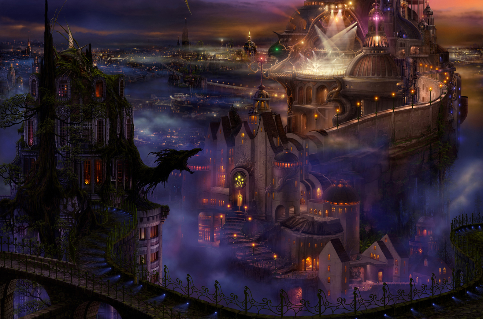 Fantasy art city - photo#3