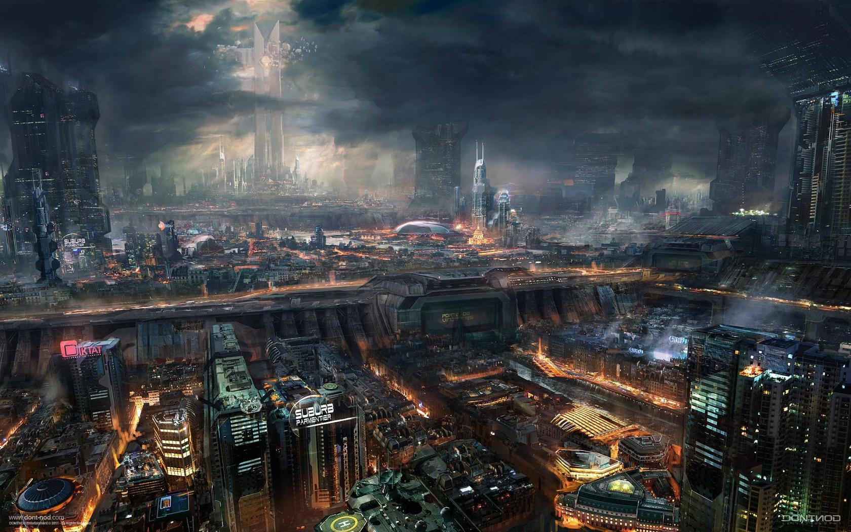 art futuristic cities - photo #11