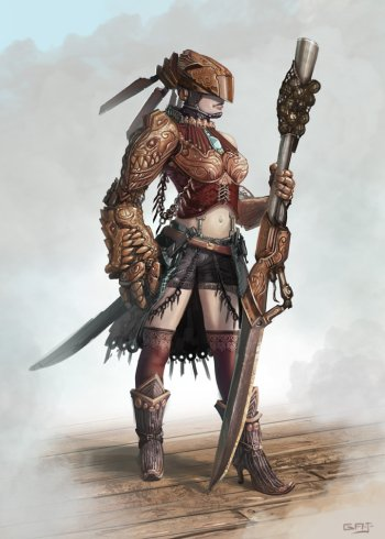 Barbarian tribal woman - 5 10