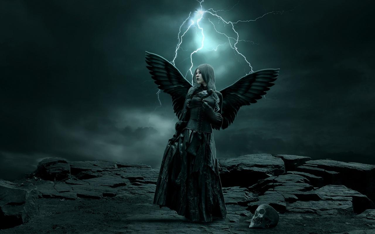 Gothic angel art id 54858 art abyss - Dark gothic angel wallpaper ...