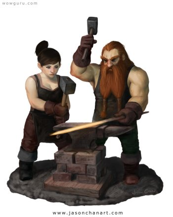 Preview Fantasy - Blacksmith Art