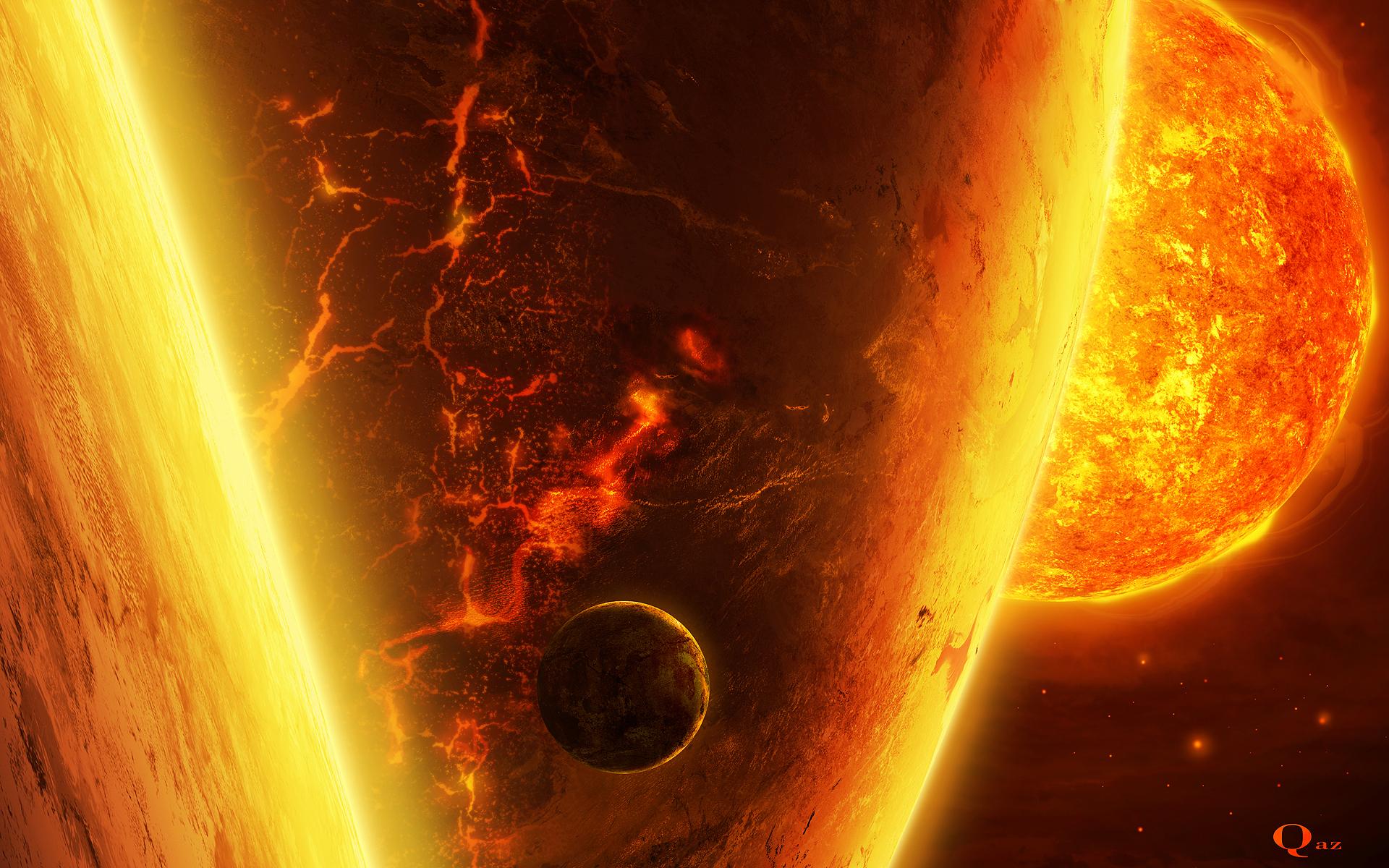 planets surrounding the sun - HD1920×1200