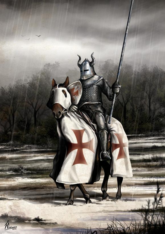 Картинка рыцаря на дороге