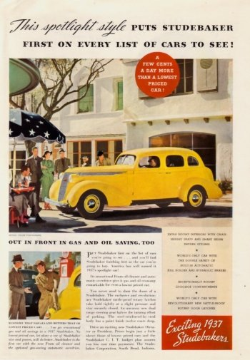 Preview Vehicles - 1937 Studebaker Art