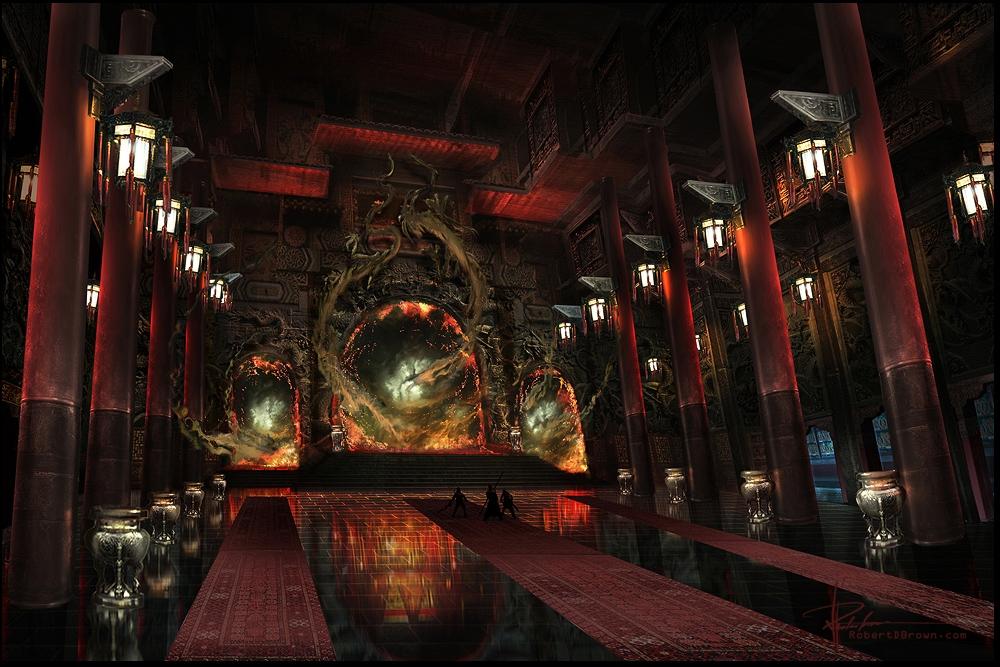 Concept Art Sci Fi Temple
