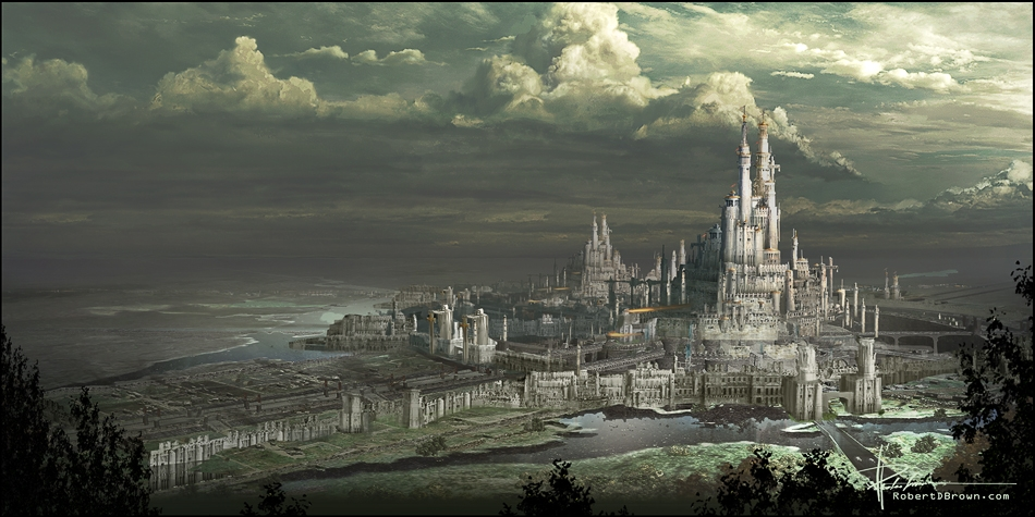 Fantasy art city - photo#24