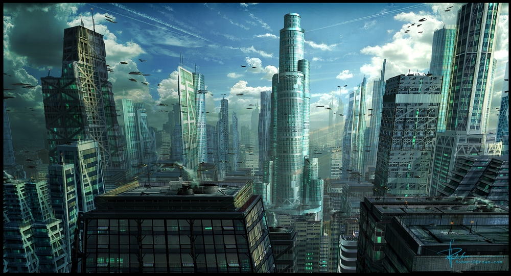 art futuristic cities - photo #46