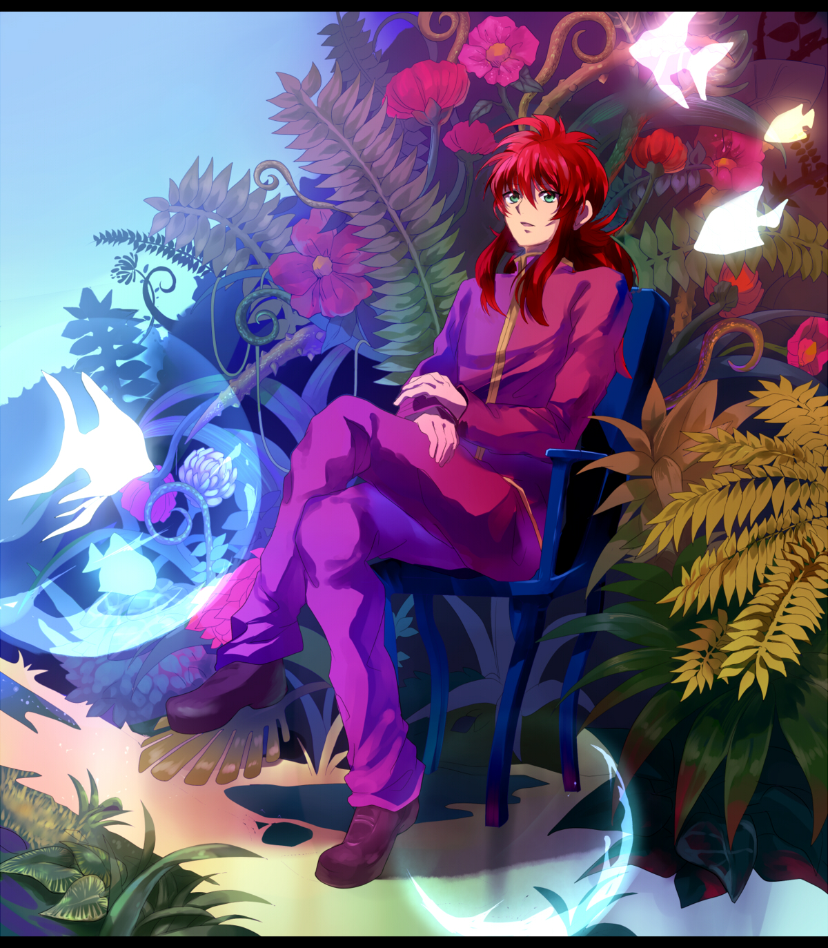 Download Anime Yu Yu Hakusho: Kurama's Garden Art