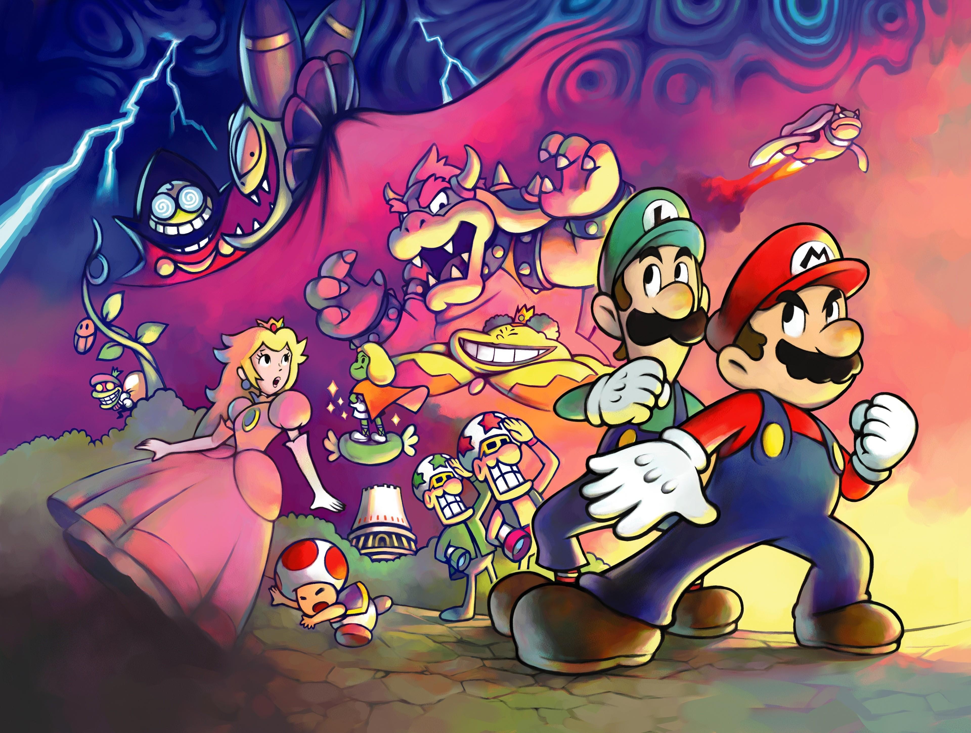 Mario Luigi Superstar Saga Art Id 65874 Art Abyss