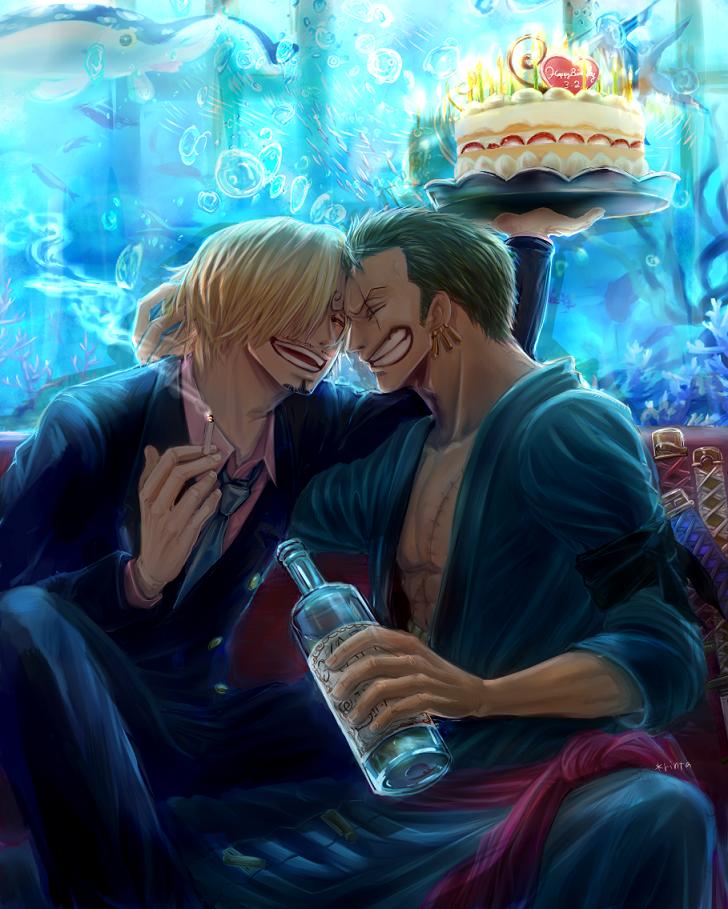 Friendship Sanji And Zoro One Piece Fanart Art Id 66281 Art Abyss