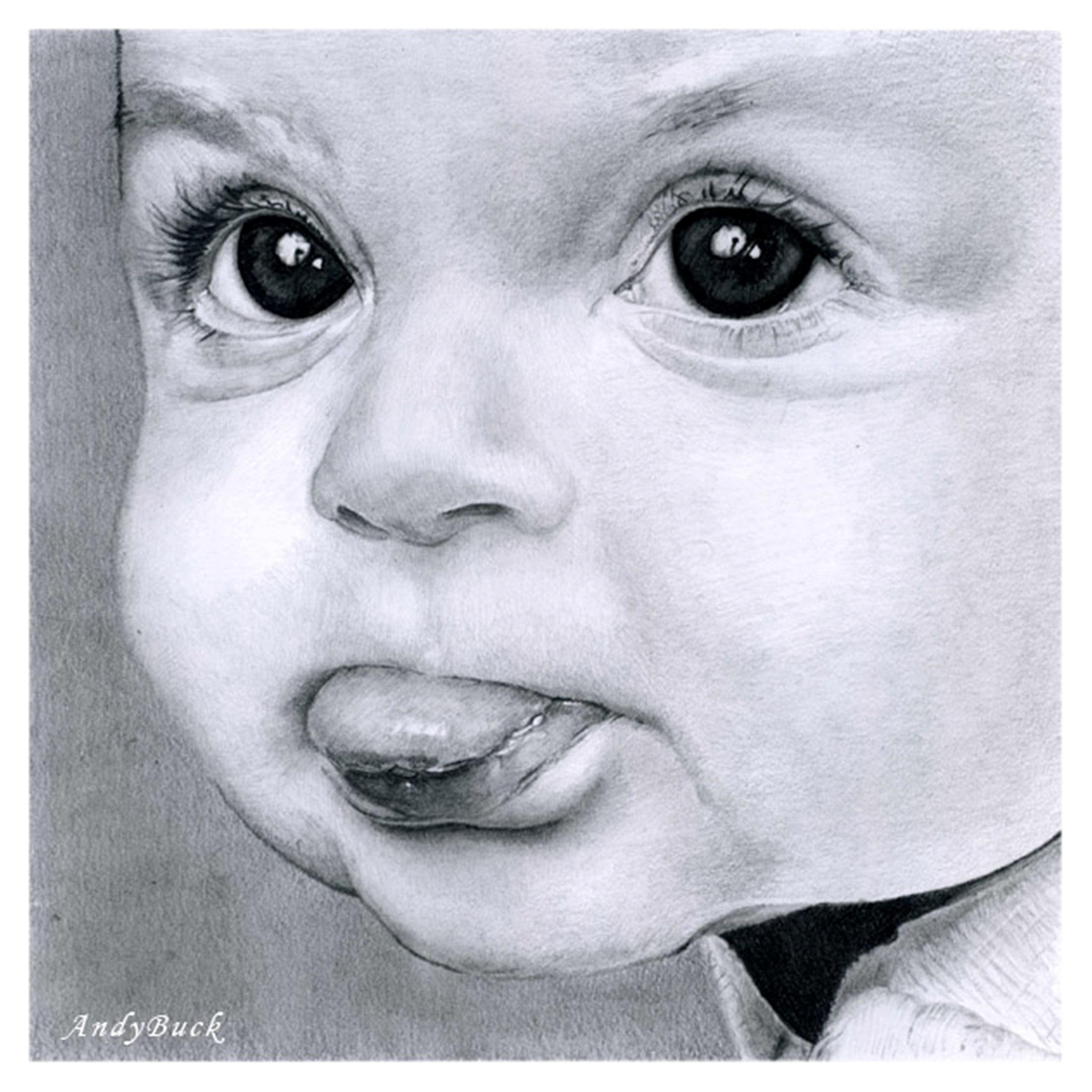 how to draw a realistic baby