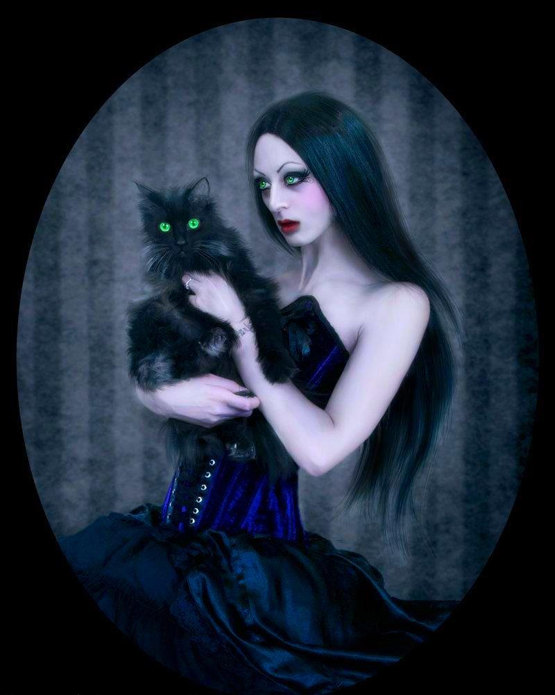 ведьма с кошкой фото тарталетках очень классная