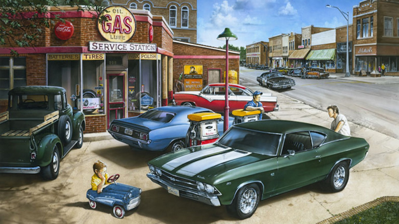 The Old Gas Station Art Id 69600 Art Abyss