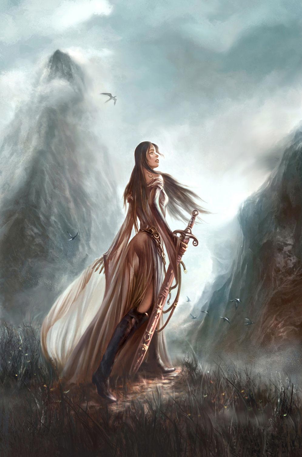 The warrior art id 7080 art abyss - Fantasy female warrior artwork ...
