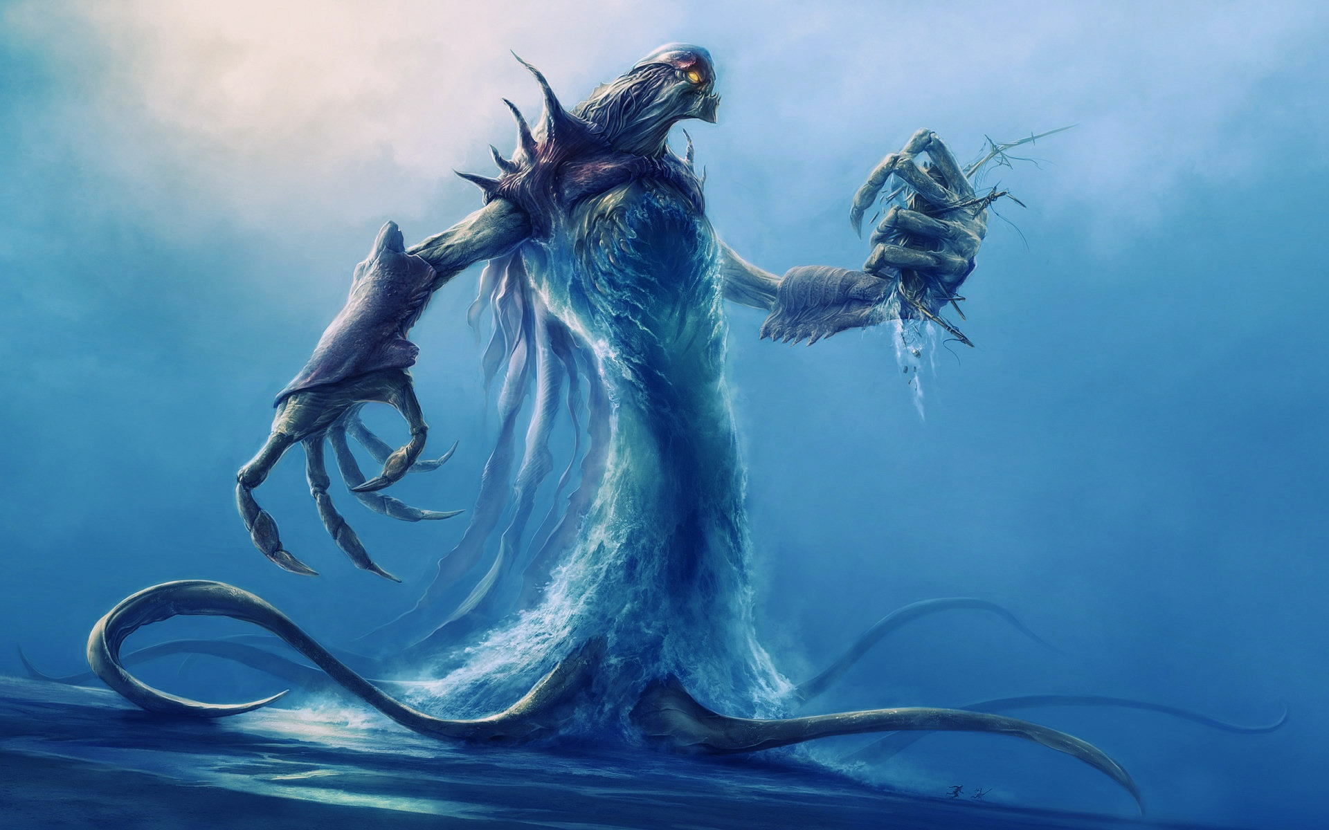 Giant sea monsters art - photo#40