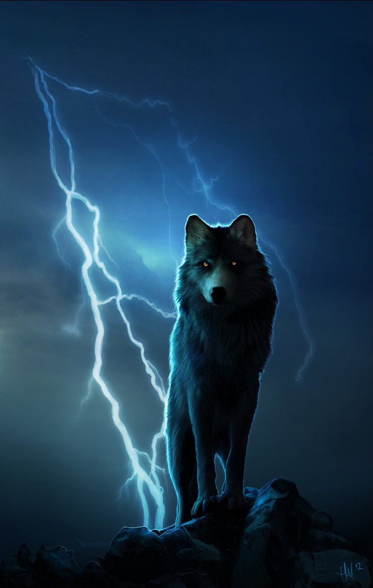 wolves and lightning wallpapers - photo #10