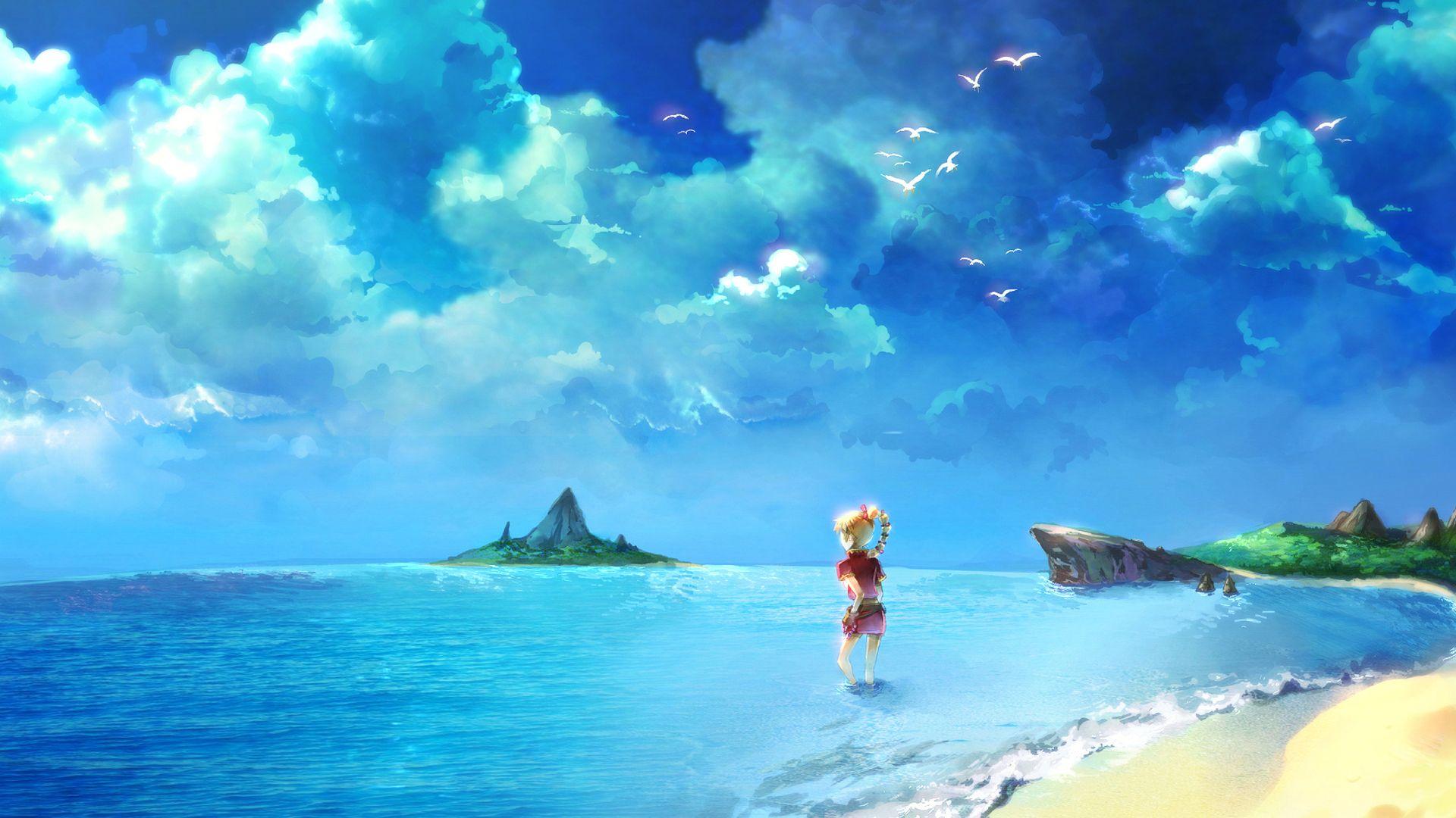 Anime Beach Art