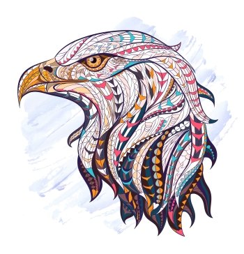 Preview Animal - Bald Eagle Floral Art