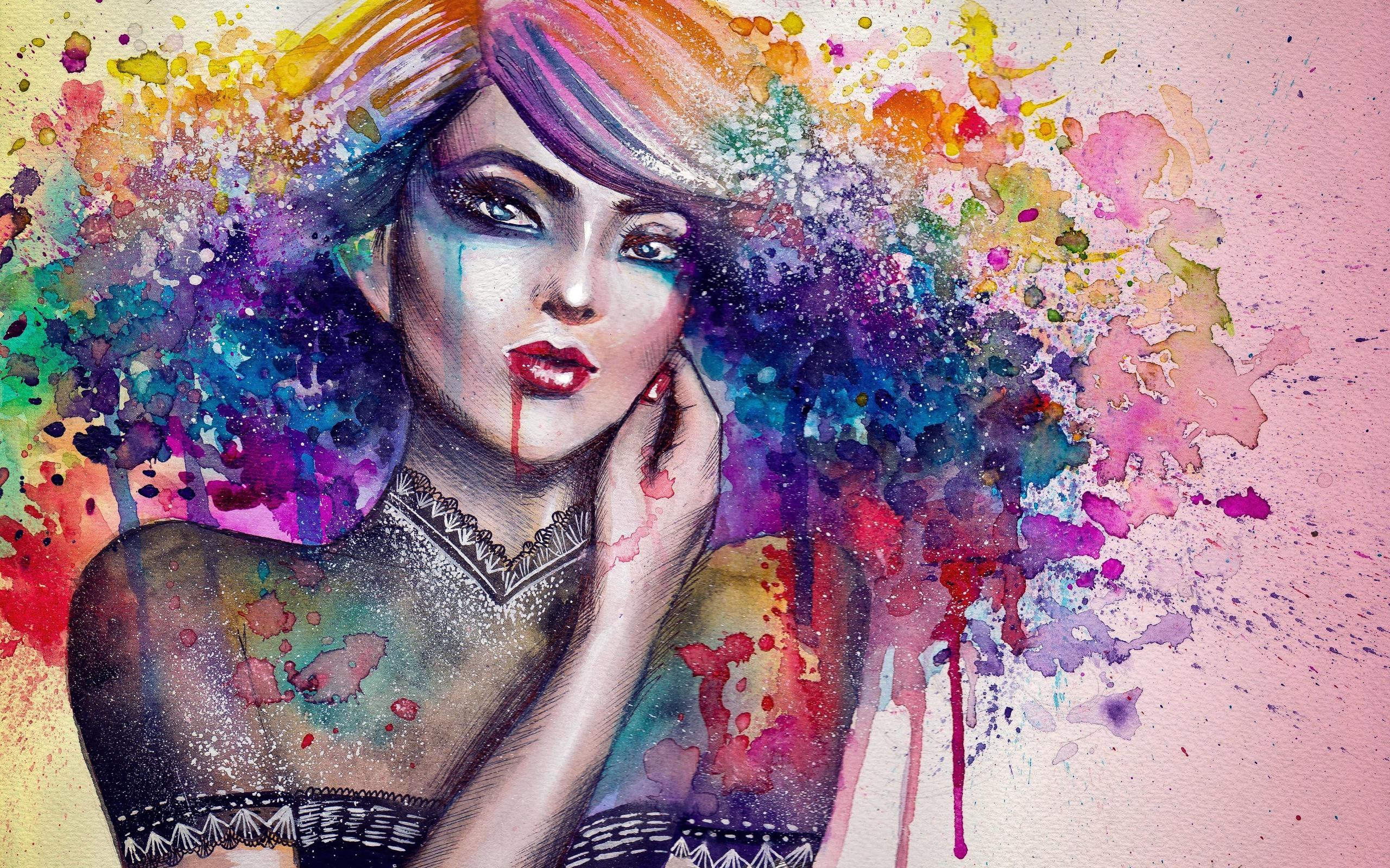 Как сделать рисунок краской из вшопе