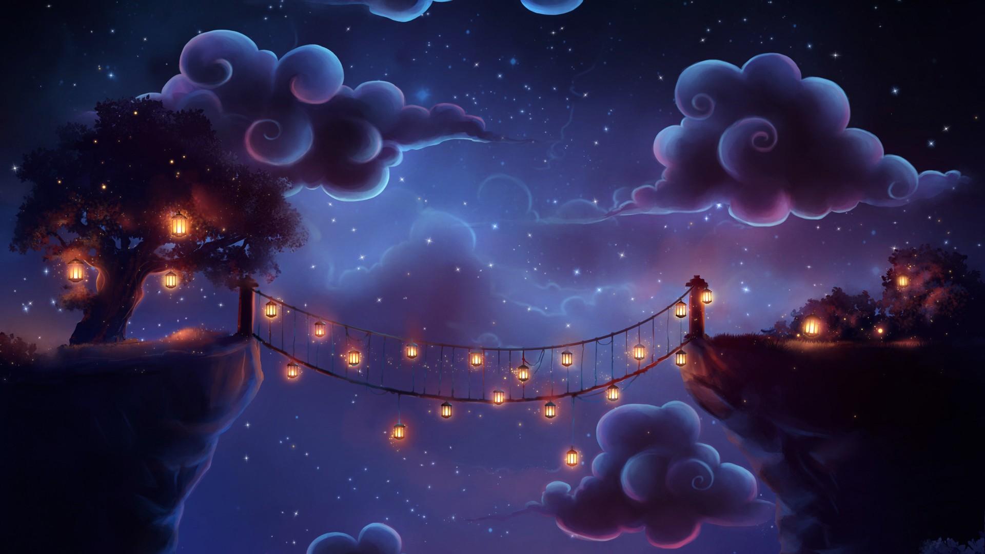 Принцесса под небесными фонариками  № 2222743  скачать