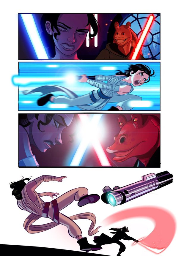 Star Wars Episode 7 1 2 By Stephen Byrne Art Id 83560 Art Abyss