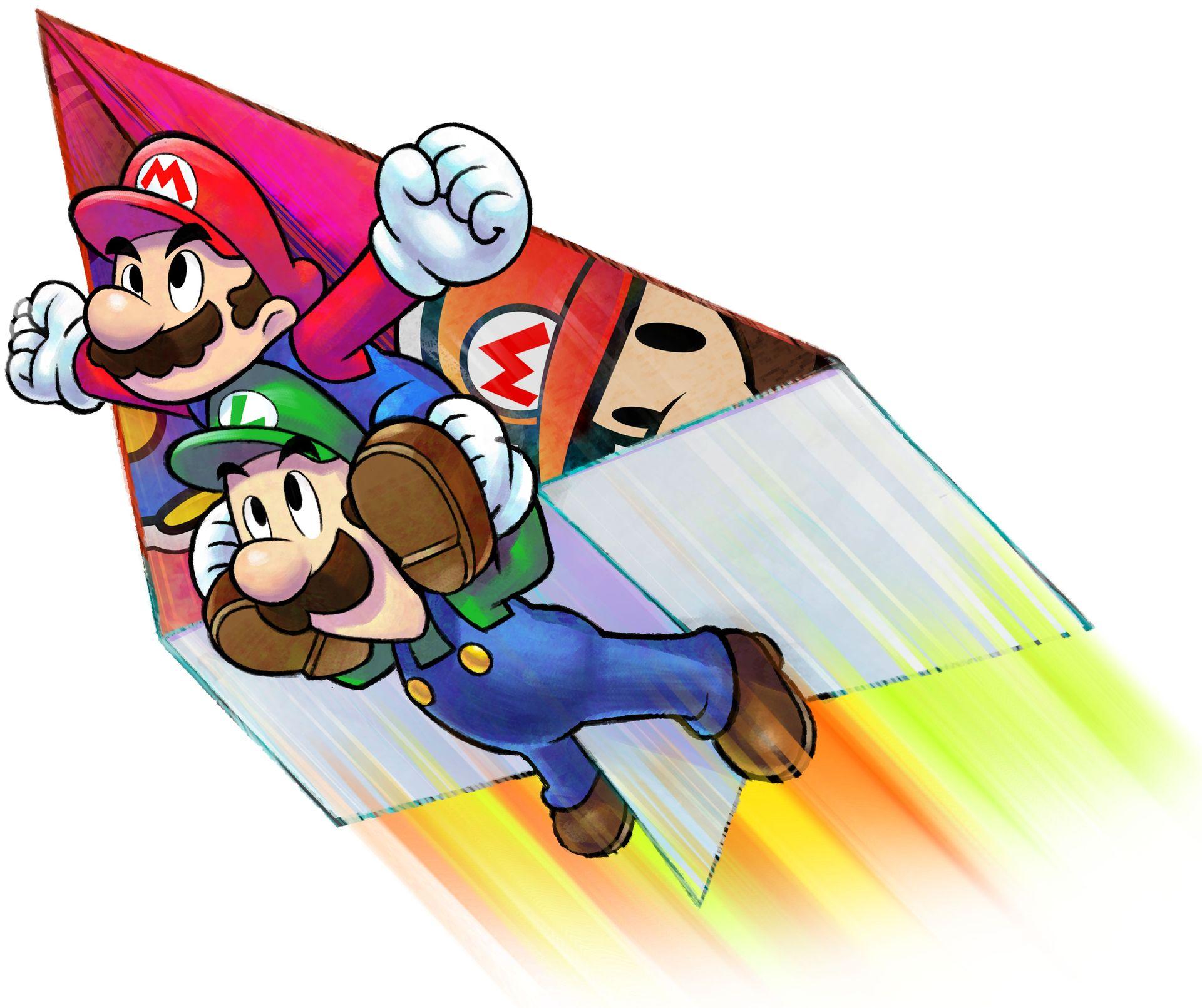 Mario Luigi Paper Jam Art Id 83931 Art Abyss