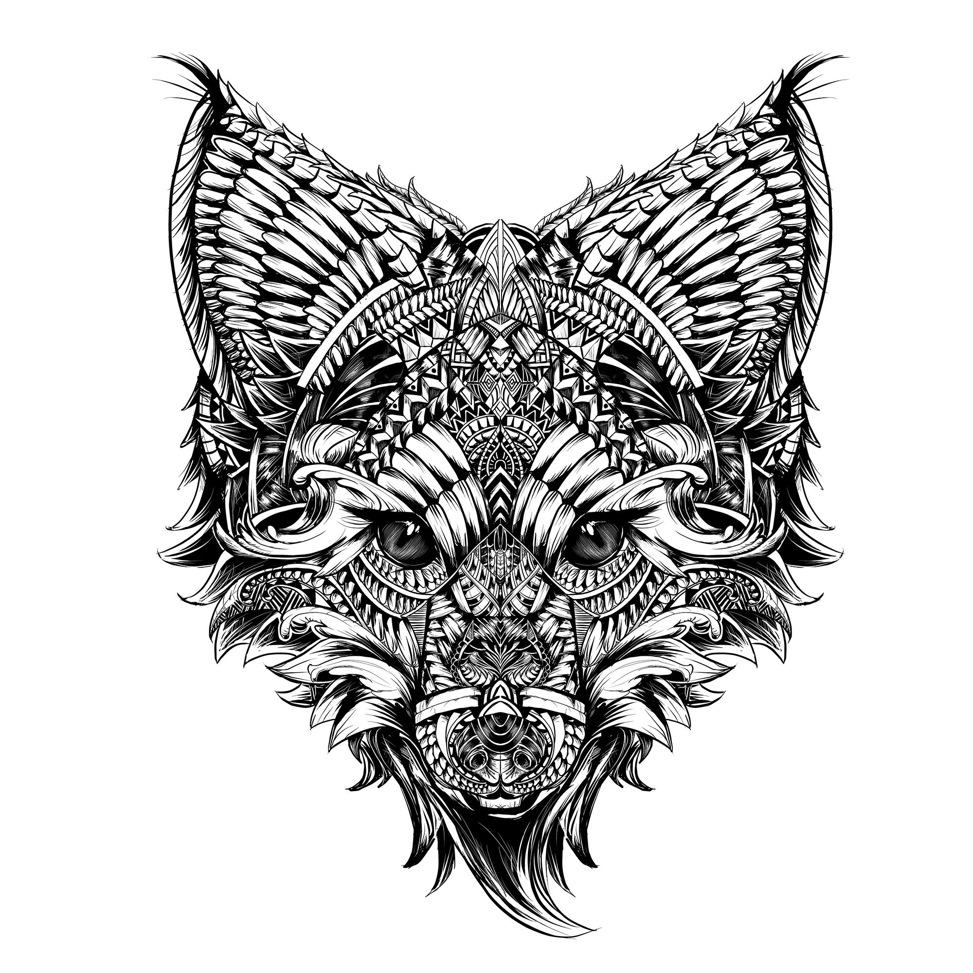 Line Drawing Reddit : Fox sai paint tool art id abyss
