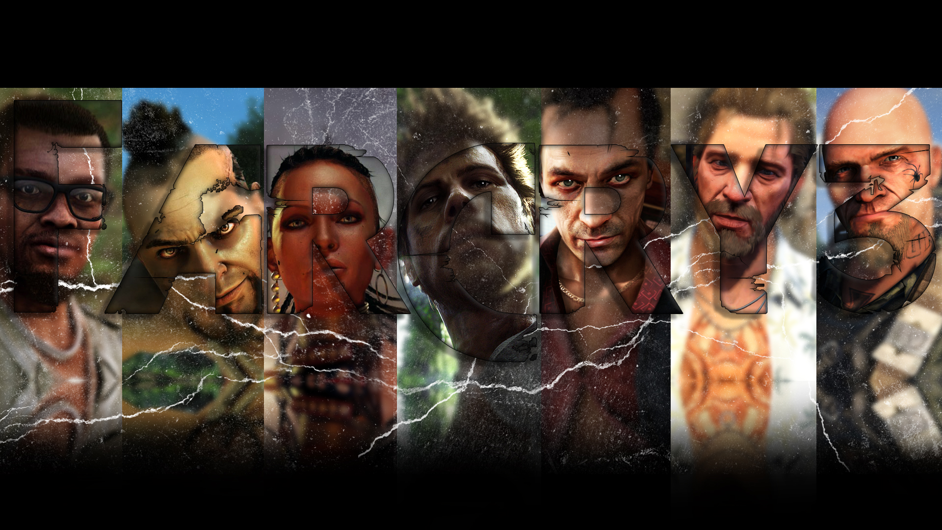 Far Cry 3 Characters Text Black Art Id 86144 Art Abyss