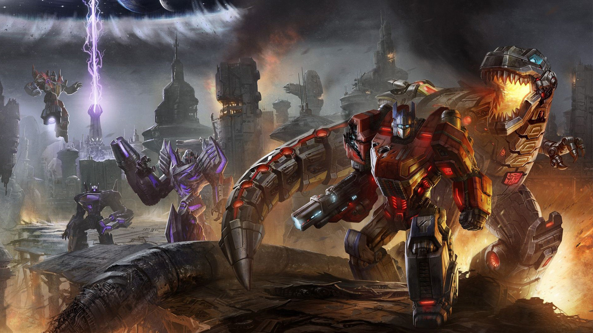 Transformers 3 Dark Of The Moon Poster Wallpaper - WallDevil