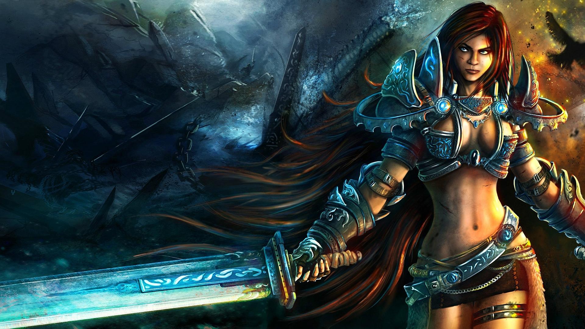 Women warrior art id 88089 art abyss - Fantasy female warrior artwork ...