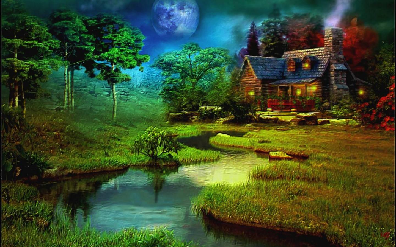 Fantasy Cottage Art Id 88144 Art Abyss