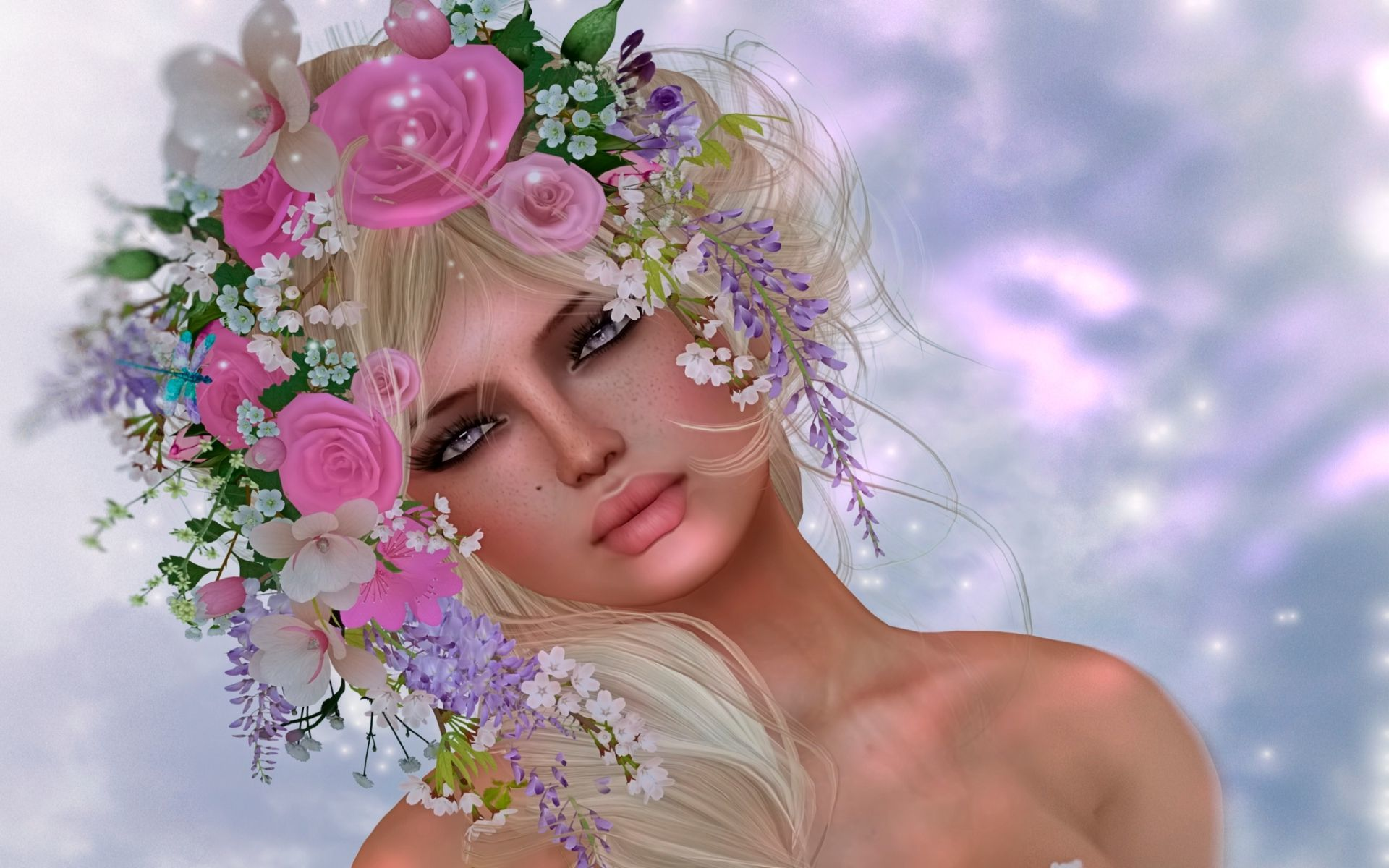 Fantasy Girl With Flower Crown Art Id 89100 Art Abyss